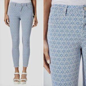 Topshop tile print Moto skinny Leigh jeans